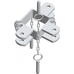 Paalklem Vierkant 90x90 - 3R