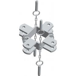 Paalklem Vierkant 90x90 - 4R