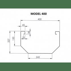Voederbak Inox Mod. 400...