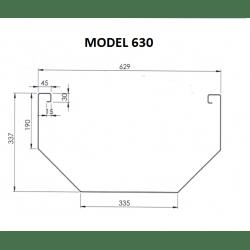 Voederbak Inox Mod. 600...