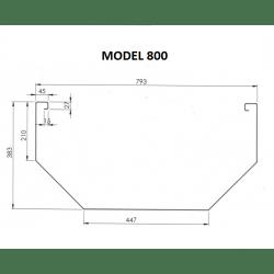 Voederbak Inox Mod. 800...